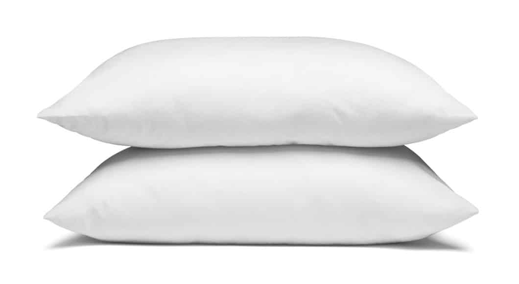 old-fashioned feather pillows