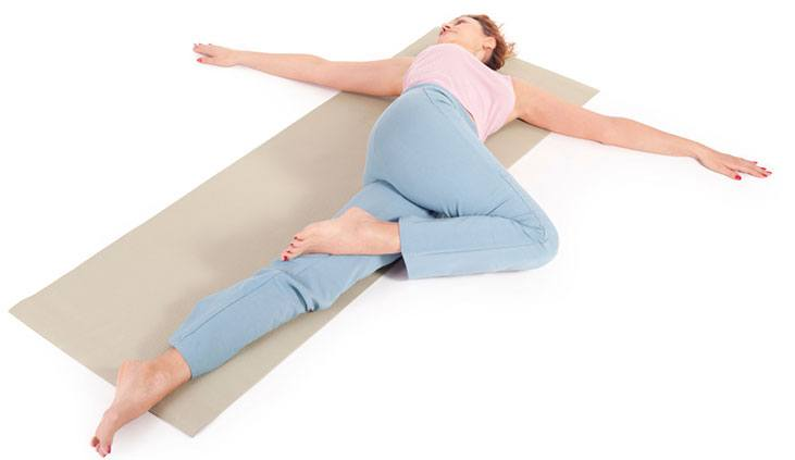 Supine Spinal Twist (Supta Matsyendrasana) - yoga poses for sleep